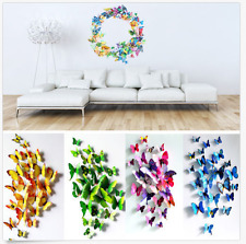 3D PVC Butterfly Sticker Art Design Decal Wall Home Decor Room Decorations