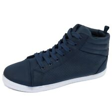 WOMENS NAVY FLAT LACE-UP TRAINERS PUMPS PLIMSOLLS SHOES BASEBALL BOOTS UK 3-8