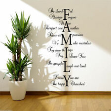 FAMILY LOVE LIFE Wall Art Sticker Quote Room Decal Mural Transfer Sticker WSD417