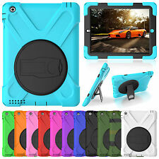 Heavy Duty Shockproof Hybrid Silicone Kickstand Armor Case Cover For Apple iPad