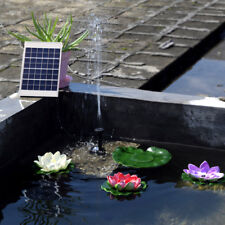 2W/5W Solar Fountain Water Pump Panel Kit Pool Garden Pond Submersible Watering