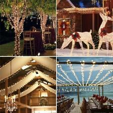 MagiDeal Solar 100/200 LED String Fairy Light Outdoor Party Xmas 3 Colors