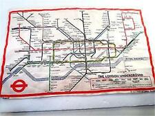 Vintage Blackstaff Linen London Underground Subway Tubes Map - Ireland *