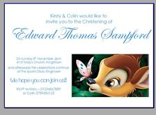 personalised party invites invitations CHRISTENING NAMING DAY DISNEY BAMBI