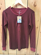 Royal Robbins Women's Kick Back Striped Henley - Ruby - Assorted Sizes - New
