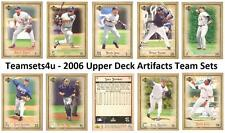 2006 Upper Deck Artifacts Baseball Set ** Pick Your Team **