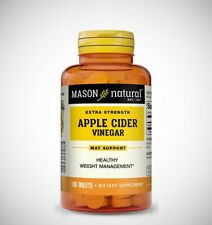 Extra Strength APPLE CIDER VINEGAR by Mason Natural 100 Tablets 1,2,3, or 4 pack