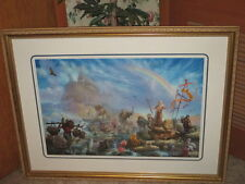 Tom duBois THE CELEBRATION Canvas S/N Framed Noah's Ark   Enjoy beauty & save!