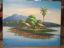 Cambodia Oil Painting with beautiful bright colors
