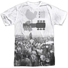 WOODSTOCK CROWD FRONT & BACK PRINT SUBLIMATION MENS T SHIRT S TO 3XL