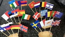 ALL Eurovision Nations Cocktail Party VERY BIG Tooth pick Flags 50 or 100 pieces