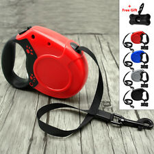 Paw Print Retractable Dog Leash Extendable Pet Leads Durable for Dogs Walking 5M