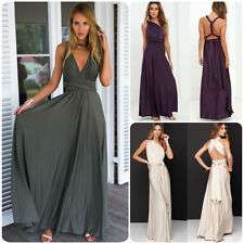 Sexy Women Bridesmaid Maxi Long Dress Party Cocktail Ball Gown Multi Way Wrap