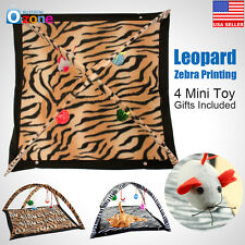New Leopard Zebra Print Pet Cat Activity Playing Tent Toy Bed Pad Dog Mat House