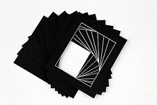 Pack of 20 Picture Mount Kits 16 x 12 fit A4  Mounts, Backs, Bags - Black