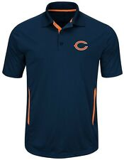 Chicago Bears NFL Mens Cool Base Performance Polo Shirt Navy Big & Tall Sizes