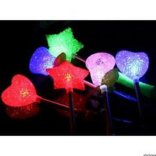 3/1X LED Flashing light up stick Colors Glow Rose Star Wand Party Concert Favor