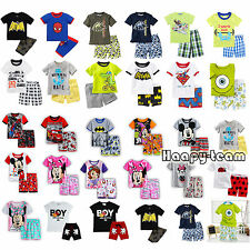 Baby Kids Boys T-shirt Tops+Pants Toddler Nightwear Pyjamas Pajamas Summer Set