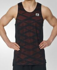 NEW Mens S M L XL 2XL ADIDAS Mesh Black ABL Reversible Basketball Tank Jersey