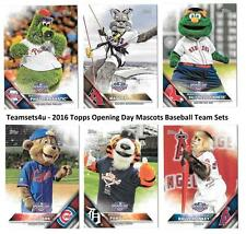 2016 Topps Opening Day Mascots Baseball Set ** Pick Your Team **