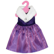 18'' American Girl Doll Clothes Doll Princess Dress + Doll Scarf Toy Accessories