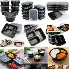10-50Pcs Microwave Plastic Meal Prep Container Lunch Box Food Storage Takeaway
