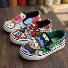 Spring Children's Canvas Shoes Boys Casual Sports Shoes Girls Slip-On Sneakers
