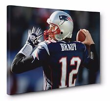 Tom Brady New England Patriots CANVAS PRINT NFL POSTER PHOTO WALL ART