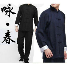 Chinese Kung Fu Wing Chun Martial Arts Tai Chi Uniform Bruce Lee Costume XW