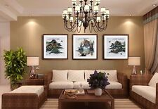 Oriental Chinese watercolor painting HOME DECOR Mountain Water Landscape TA13
