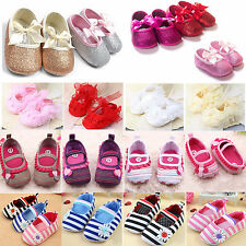 Baby Kids Toddler Prewalker Crib Shoes Girls Princess Party Sandals Loafers
