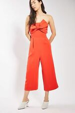TOPSHOP *Red Tie Bandeau Jumpsuit* SIZE_UK6_8_10_12_14_16