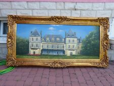 OIL PAINTING ON CANVAS IN BEAUTIFUL GOLD FRAME - PALACE