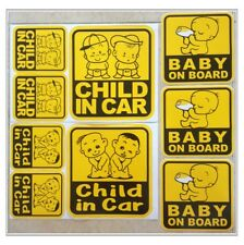 Set of Baby On Board Child in Car Family Safety Truck Vinyl Sticker    U Choice