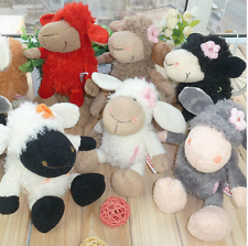 NICI plush toy stuffed doll sheep lamb wearing flower on head bedtime story 1pc