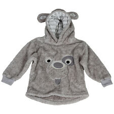 Dog print fleece pullover/hoodie grey Boys/Girls 1-5 years BNWT RRP £19.99