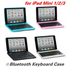 Rechargeable Bluetooth Foldable Keyboard For Apple iPad MINI 1/2/3 Case Cover