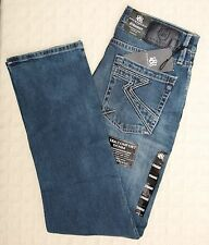 NWT ROCK & REPUBLIC Men's Jeans Neil STRAIGHT Hit Man Denim Cotton Blue 33 38 42