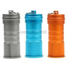 Large Water Resistant Pill Containers ID Bottle w/ Keychain Geocaching Tool