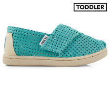 TOMS Tiny Toddler Classic Perforated Shoe - Seafoam