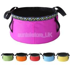 6-12L Portable Water Basin Foldable Wash Bowl Collapsible Sink Water Bag Camping
