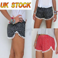 UK Womens Girls Summer Loose Sexy Pants Casual Beach Shorts High Waist Size 8-14
