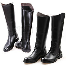 Cosplay Riding Boots Mens Equestrian Military Boots Motorcycle Knee High Boots