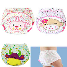 Baby Cotton Training Pants Reusable Cloth Washable Infant Nappies Diaper Healthy