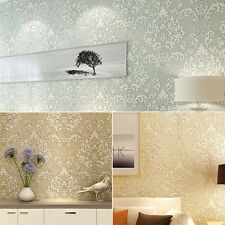 10m Non-woven 3D Bedroom Study TV Background Flower Pattern Wallpaper Mural Roll