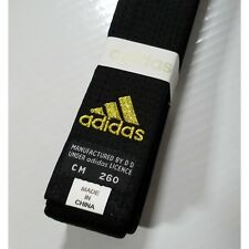 NEW adidas Karate Black Belt Martial Arts CHAMPION Taekwondo Judo COTTON Belt