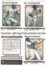 2009 Topps Ticket to Stardom (1-200) Baseball Set ** Pick Your Team **