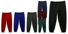 Childrens Kids Plain Jogging Bottoms  Fleece Warm Joggers Pants 1 - 14 Years