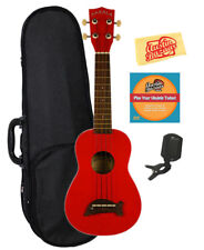 Kala MK-SD-CAR Makala Dolphin Soprano Ukulele - Candy Apple Red w/ Hard Case