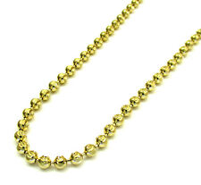 Mens Womens 14KT Gold Diamond Cut Moon 2MM Chain Necklace 16-22 Inches